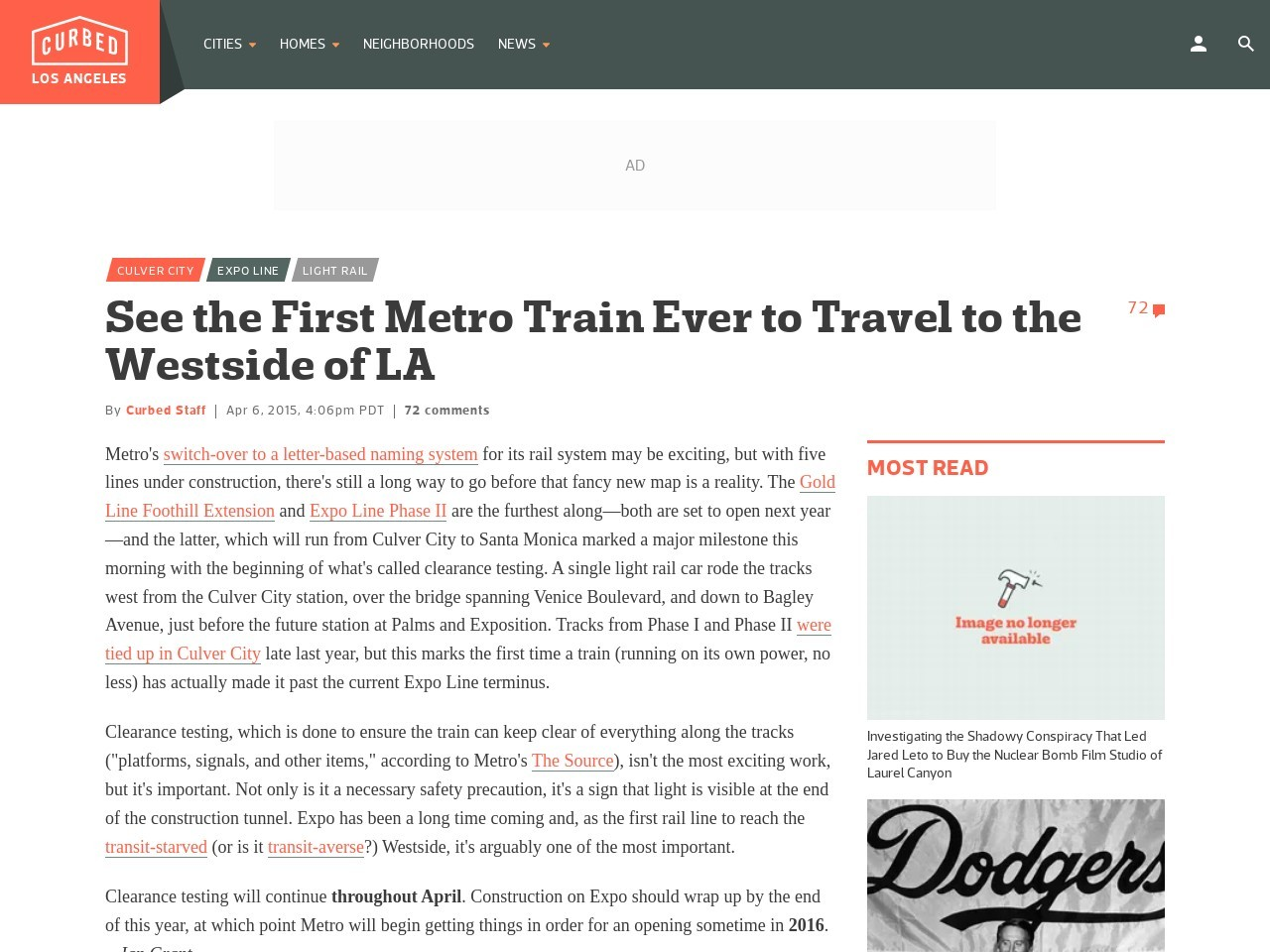 See the First Metro Train Ever to Travel to the Westside of LA