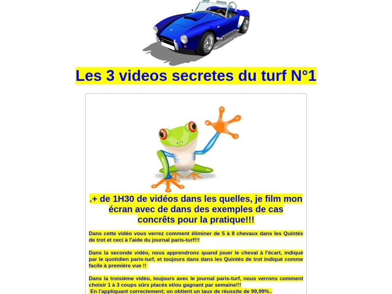 les videos secretes du turf n°1