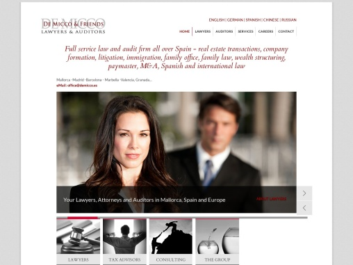 De Micco & Friends is a European law firm providing legal and tax advice