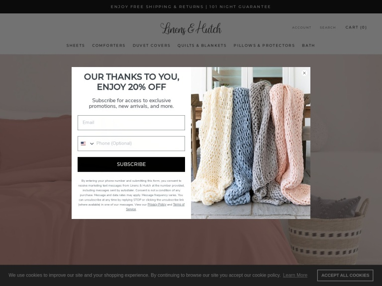 Linens & Hutch Coupon Codes
