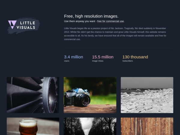 Little Visuals - Sign up to get 7 hi-res images zipped up in your inbox every 7 days. Use them anyway you want.