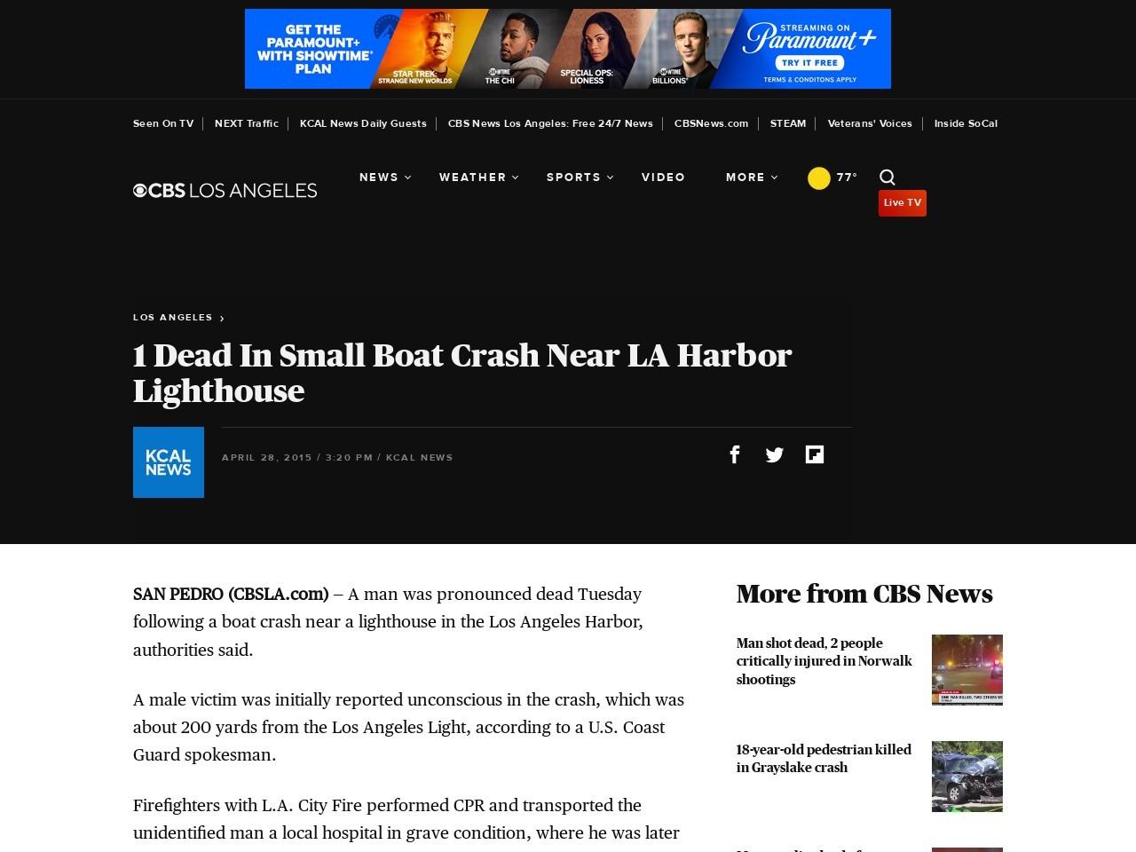 Small Boat Crash Near Lighthouse Man Found Dead…