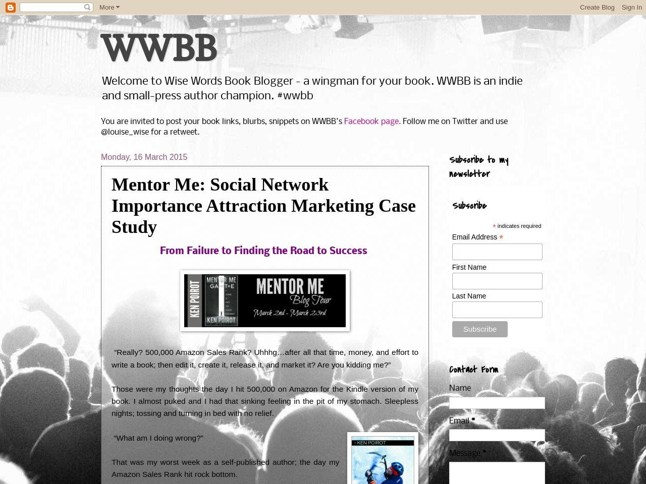 Mentor Me: Social Network Importance Attraction Marketing …