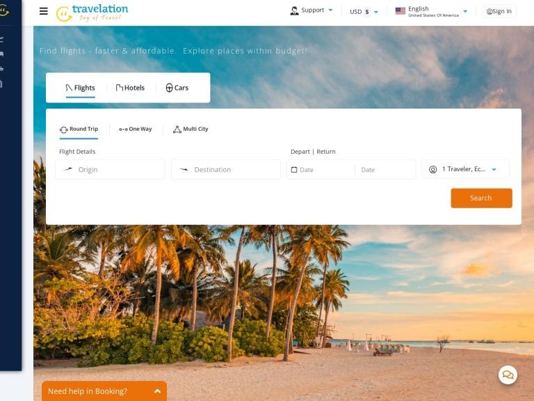Travelation.com screenshot