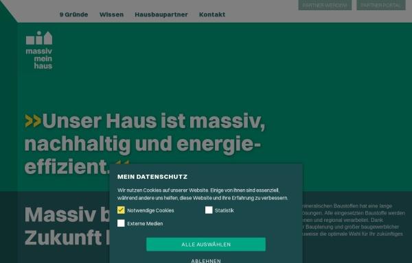 Vorschau von massiv-mein-haus.de, Massiv Mein Haus e.V.