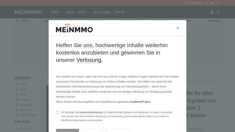 mein-mmo.de Vorschau, Webedia Gaming GmbH