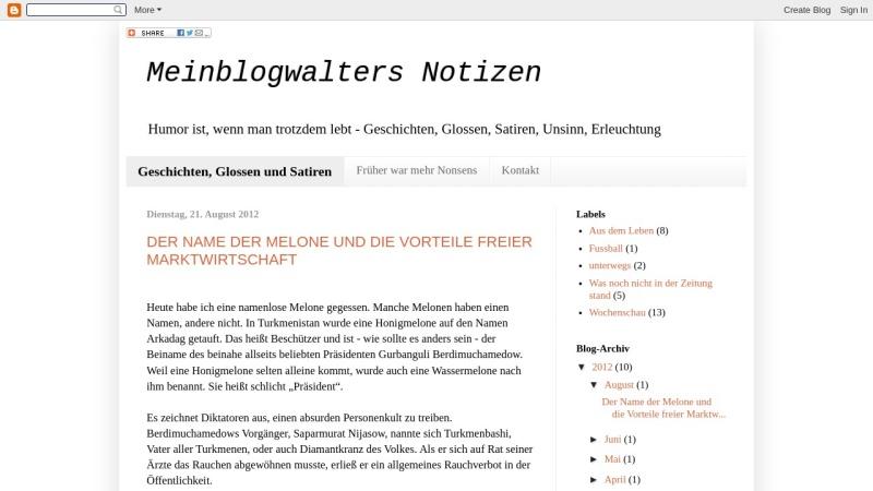 meinblogwalter.blogspot.de Vorschau, Meinblogwalters Notizen, Matthias Lüttin
