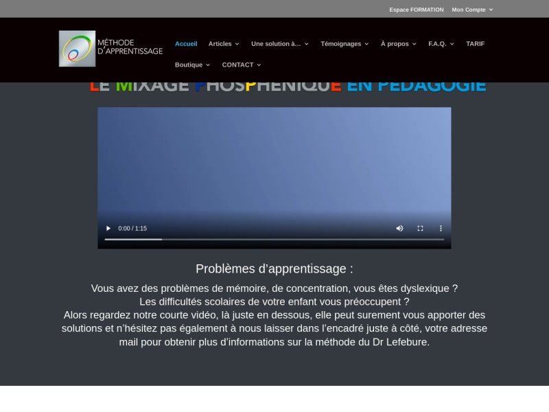 presentation de la methode du dr lefebure