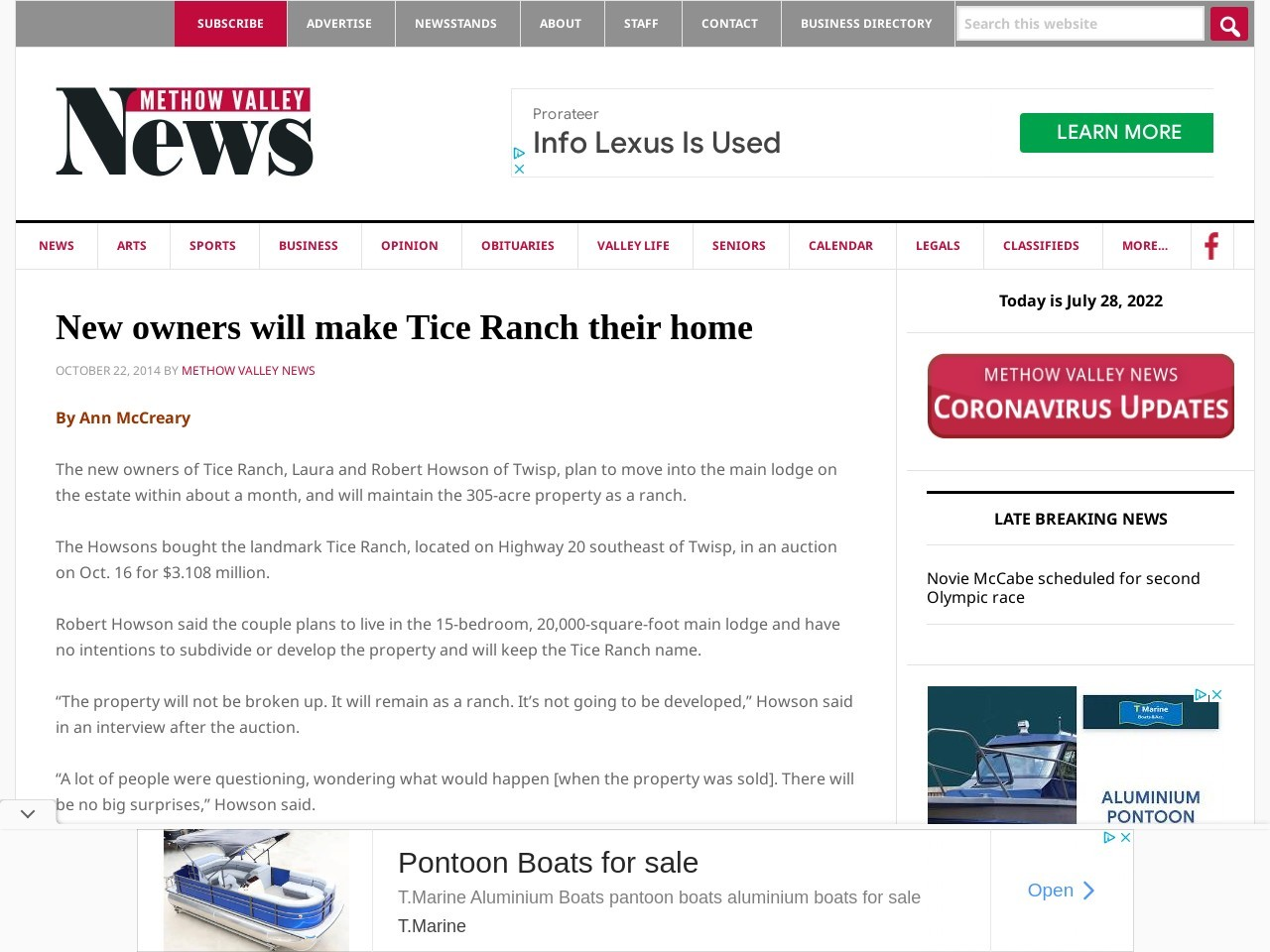 New owners will make Tice Ranch their home
