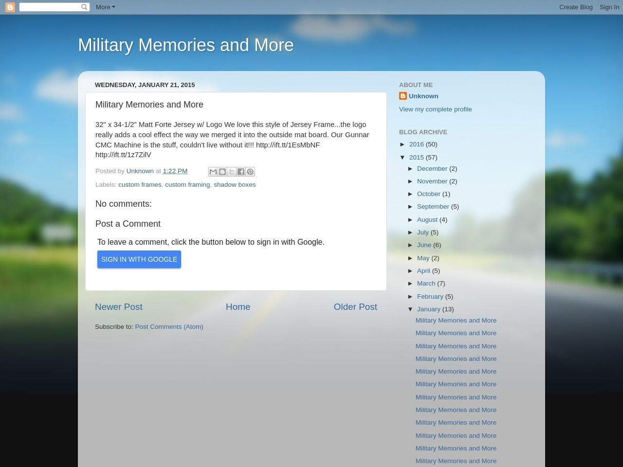 Military Memories and More