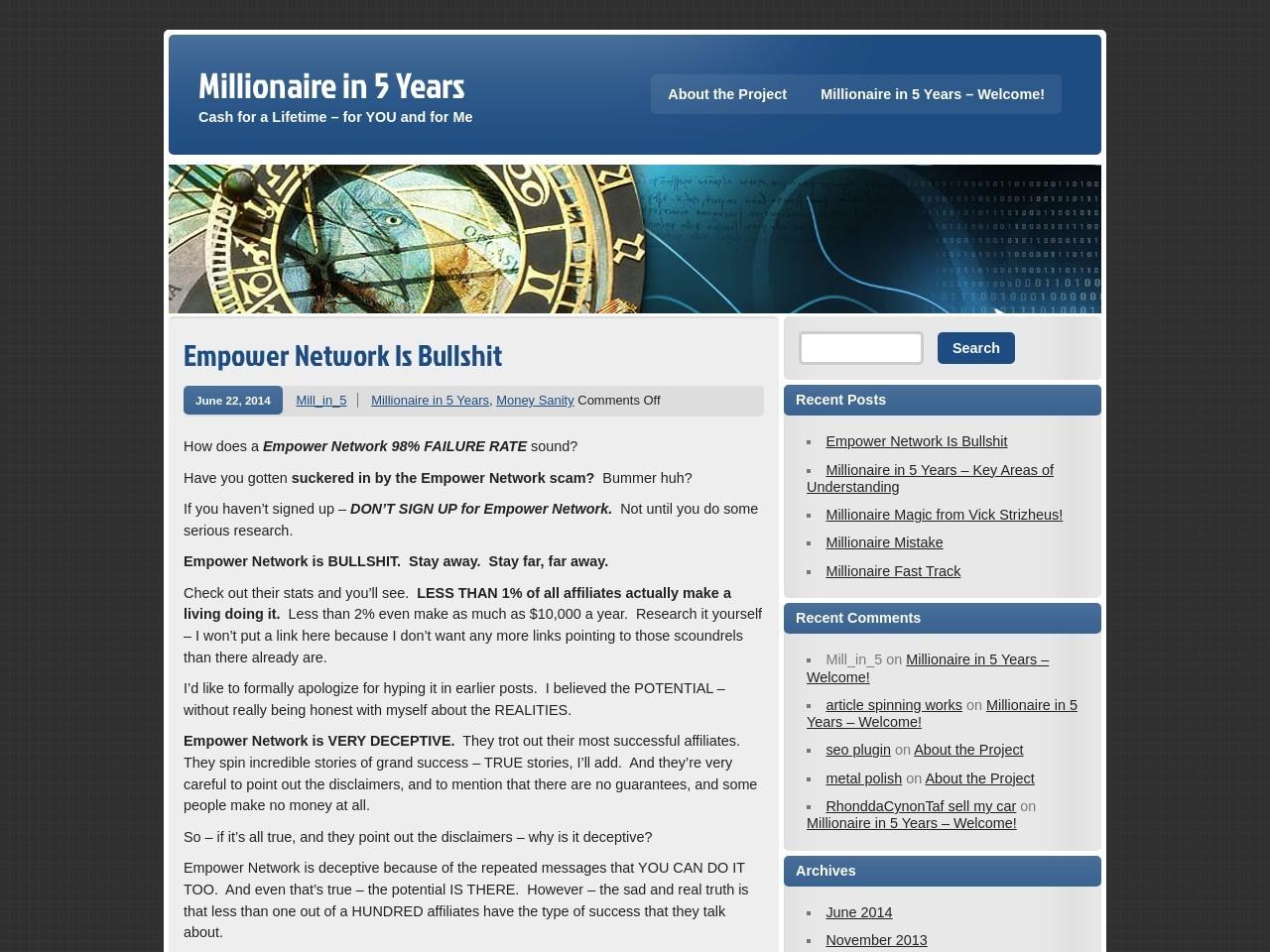 Empower Network Is Bullshit   Millionaire in 5 Years
