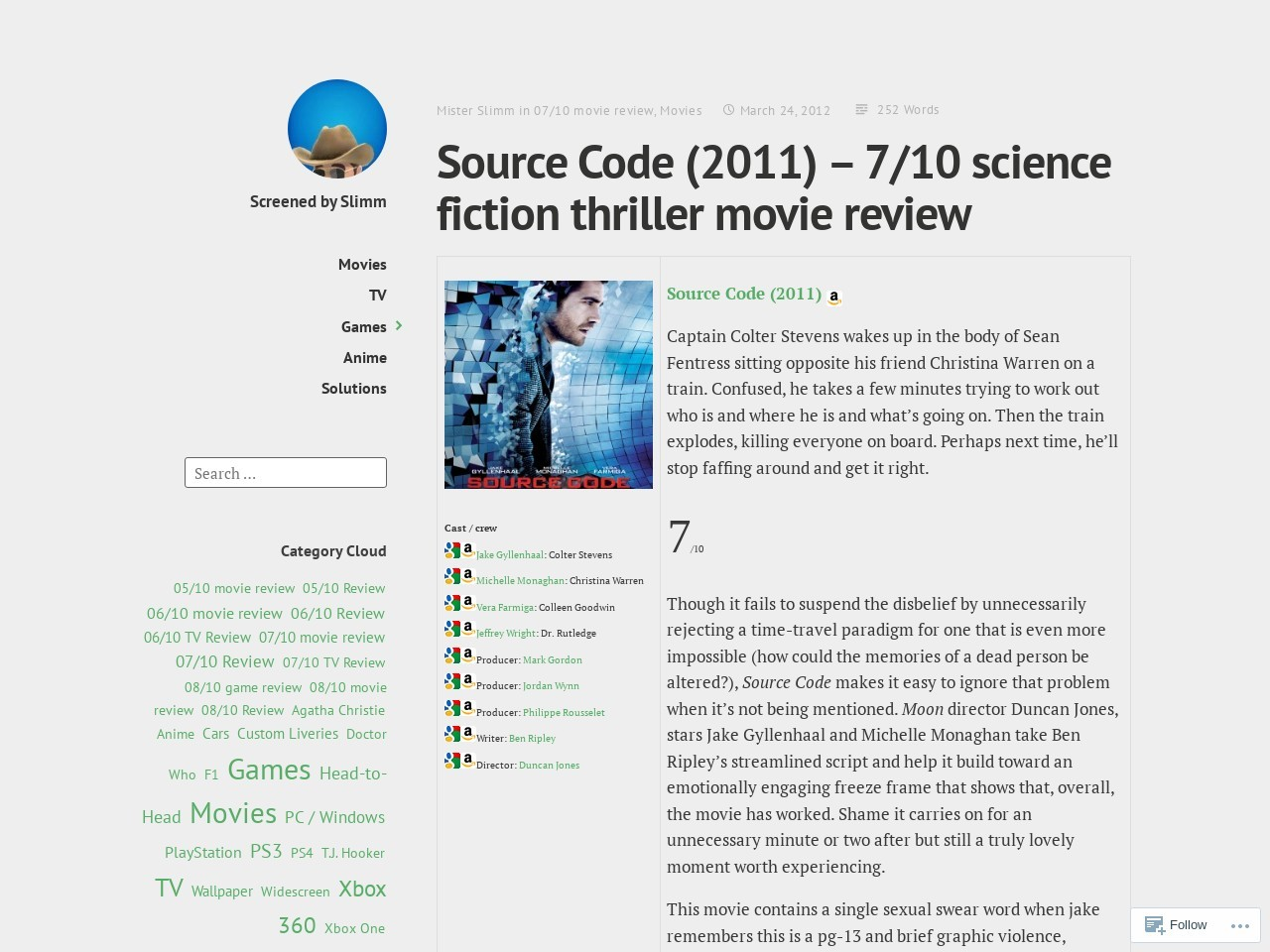 Source Code (2011) – 7/10 science fiction thriller movie …