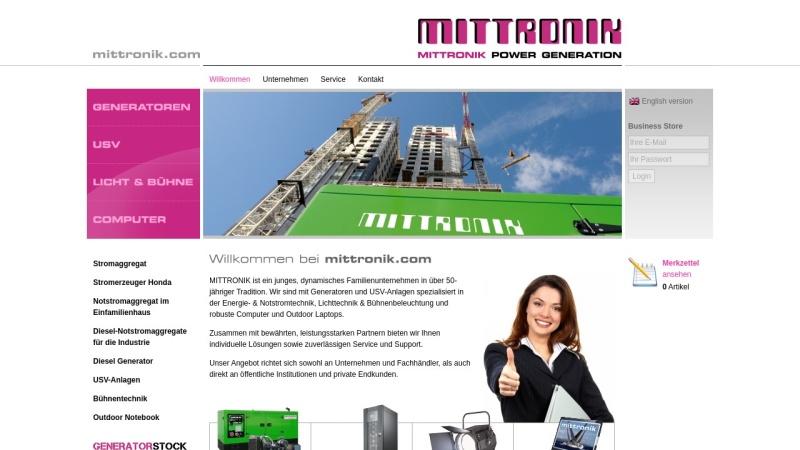 mittronik.com Vorschau, MITTRONIK GmbH