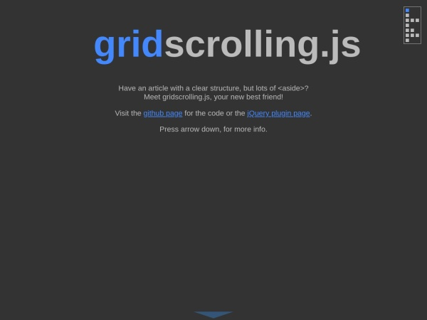 http://mknecht.github.io/gridscrolling.js/
