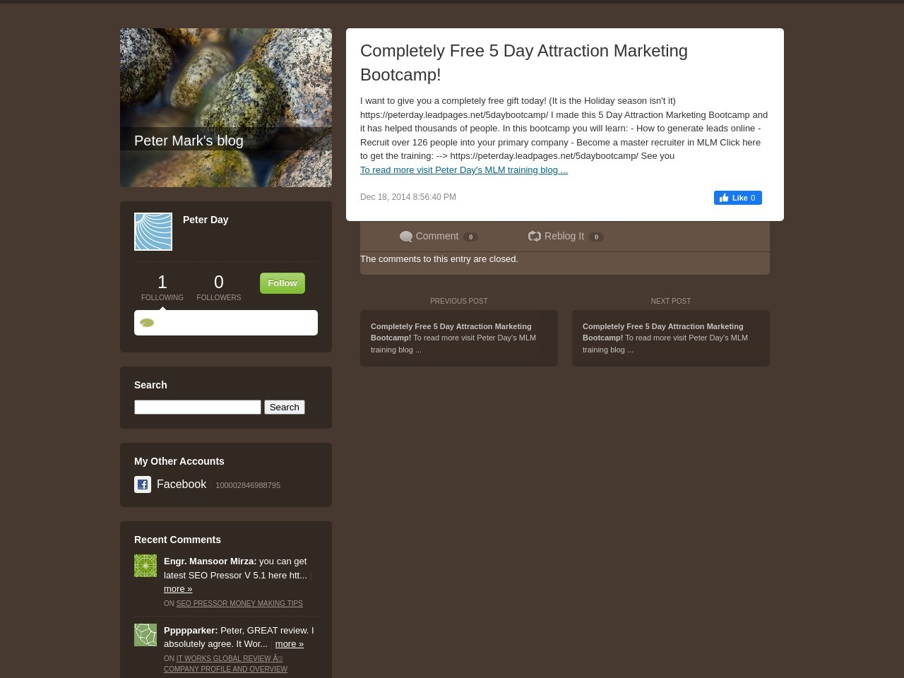 Completely Free 5 Day Attraction Marketing Bootcamp …