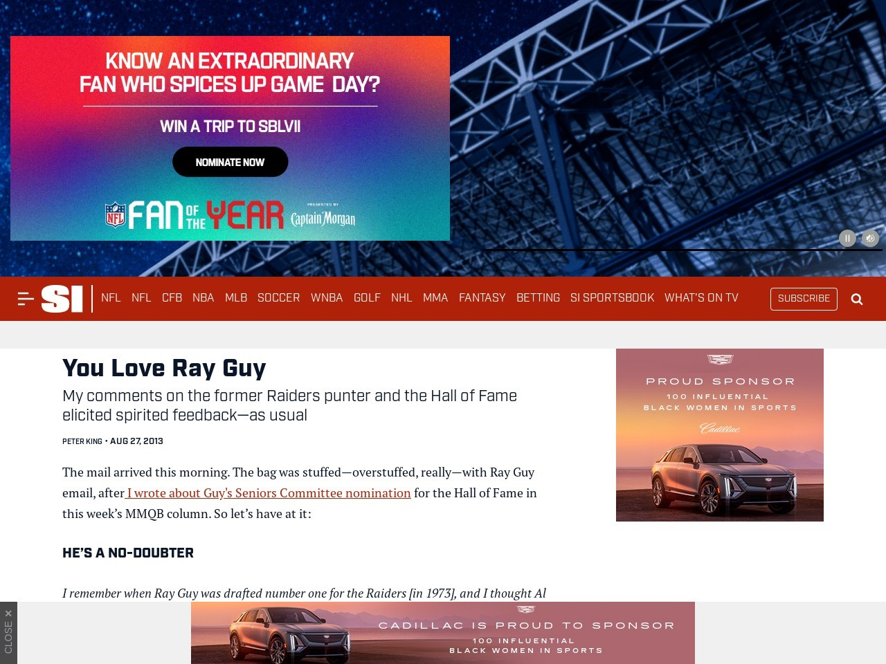 You Love Ray Guy | The MMQB with Peter King – MMQB.com – SI.com