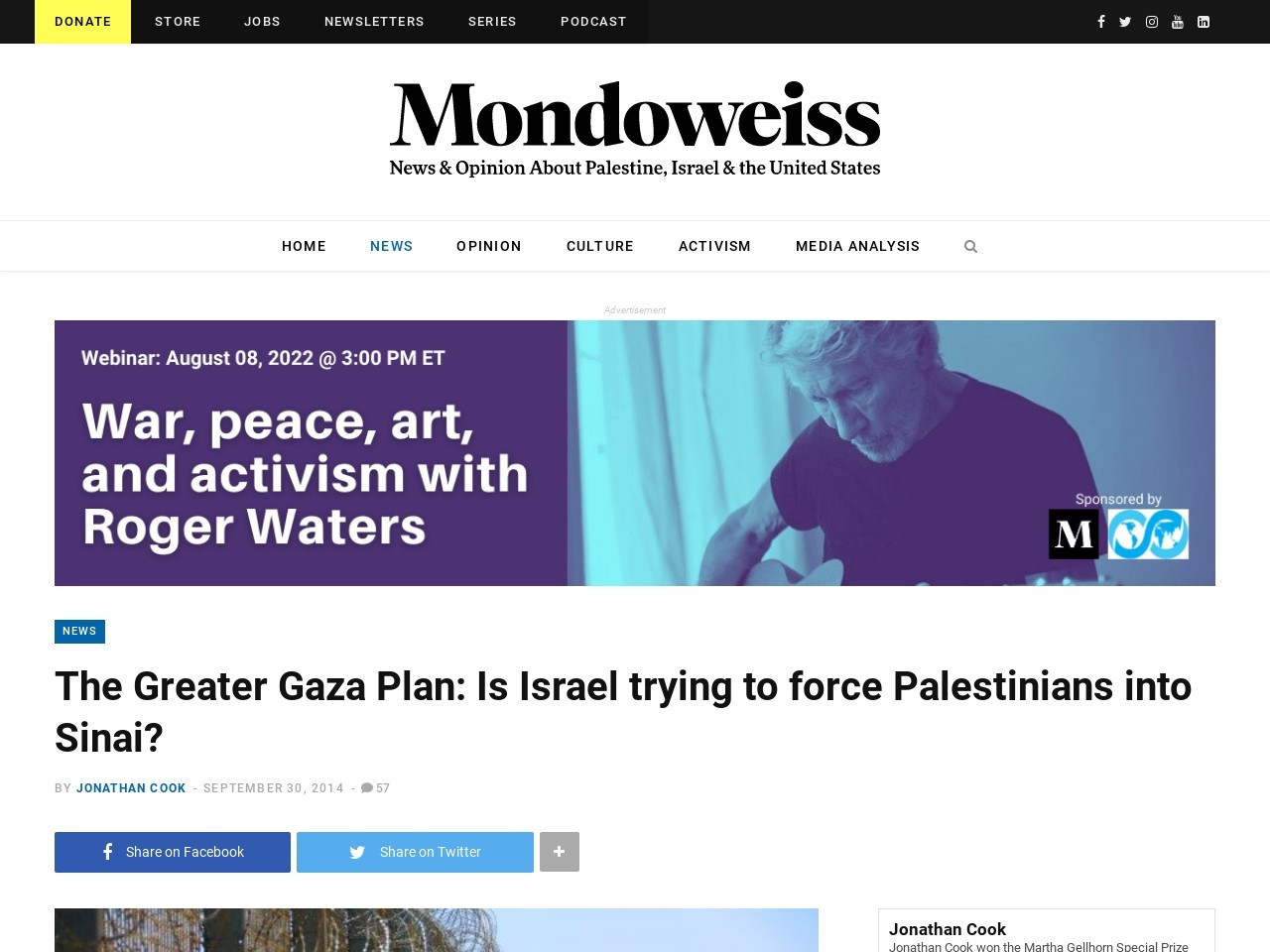 The Greater Gaza Plan: Is Israel trying to force Palestinians …