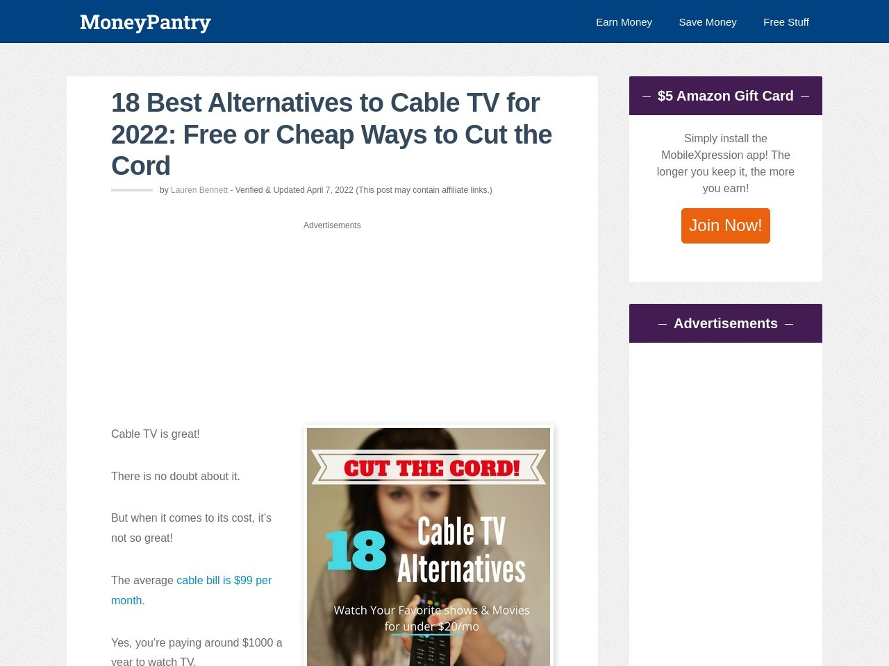 18 Cheap & Free Alternatives to Cable TV: Time to Cut the Cord & Save Money