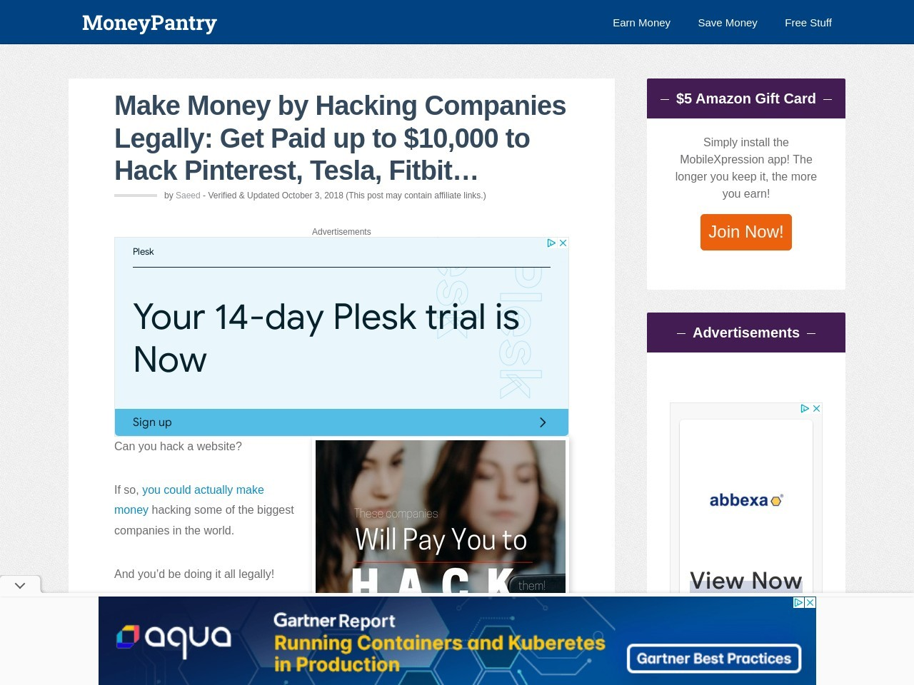 Make Money by Hacking Companies Legally: Get Paid up to $10,000 to Hack Pinterest, Tesla, Fitbit…