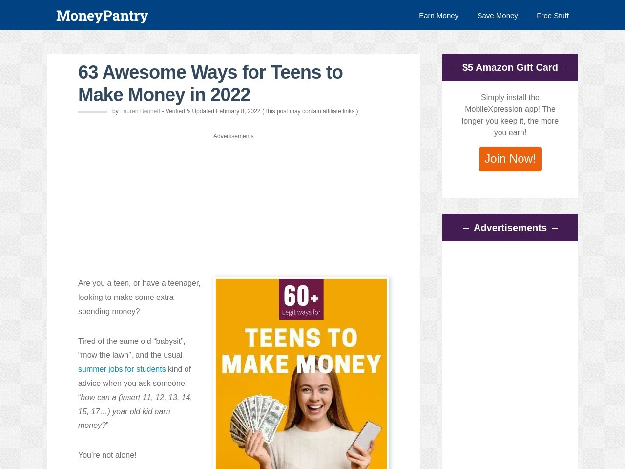 40 Ways for Teens to Make Money Online (Legit Work at Home Opportunities)