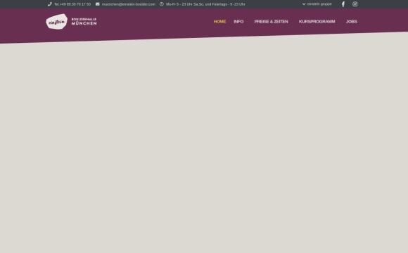 ein stein Boulderhalle München GmbH & Co. KG