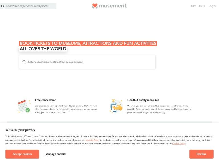 Musement screenshot