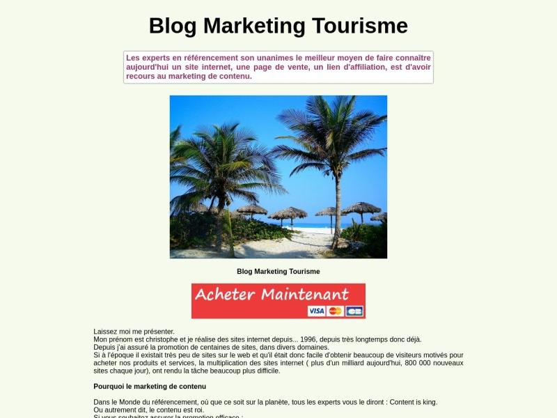 pack referencement marketing de contenu tourisme