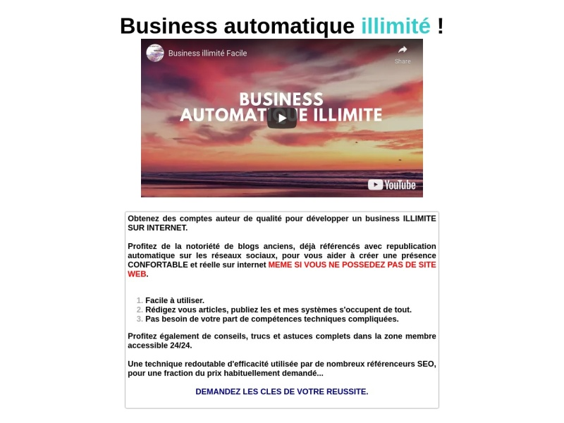 business facile illimite