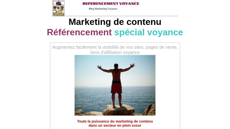 pack referencement content marketing voyance