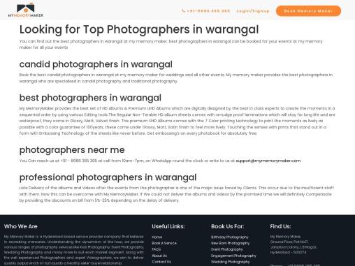 Wedding Photographers in Warangal