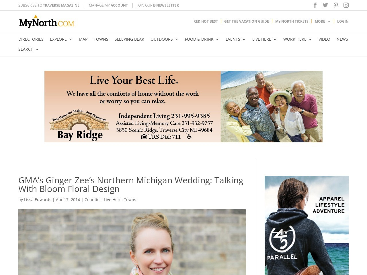 GMA's Ginger Zee's Northern Michigan Wedding: Talking With Bloom Floral …