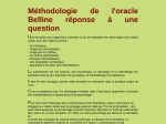 ORACLE DE BELLINE REPONSE A UNE QUESTION