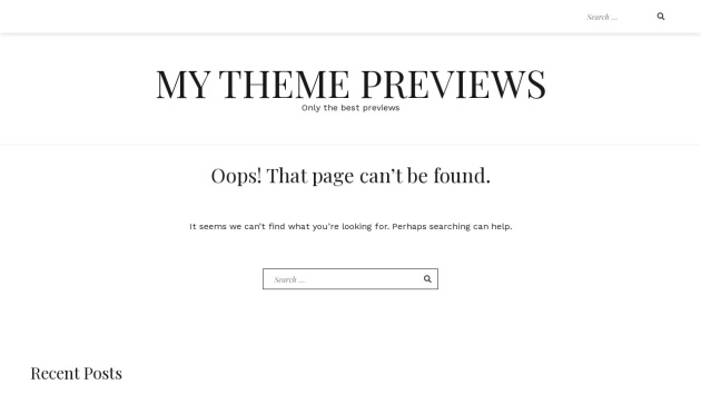 Screenshot von mythemepreviews.com in Flat Webdesign