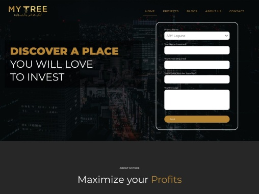 Mytree.pk is an adroit and revolutionary real-estate marketing tribune designed to find the best you