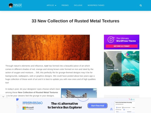 http://naldzgraphics.net/freebies/33-new-collection-of-rusted-metal-textures/