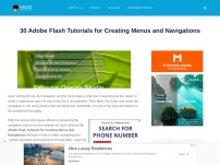 30 Adobe Flash Tutorials for Creating Menus and Navigations