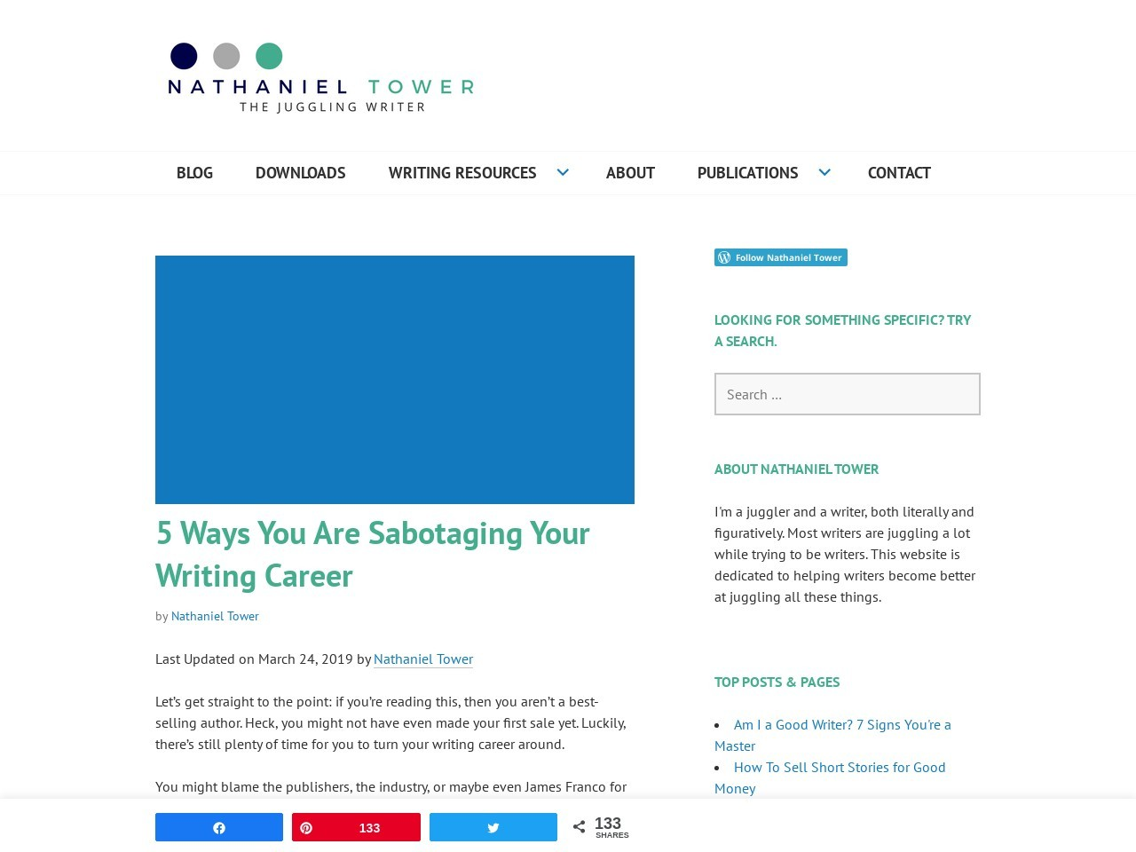 5 Ways You Are Sabotaging Your Writing Career | Write …
