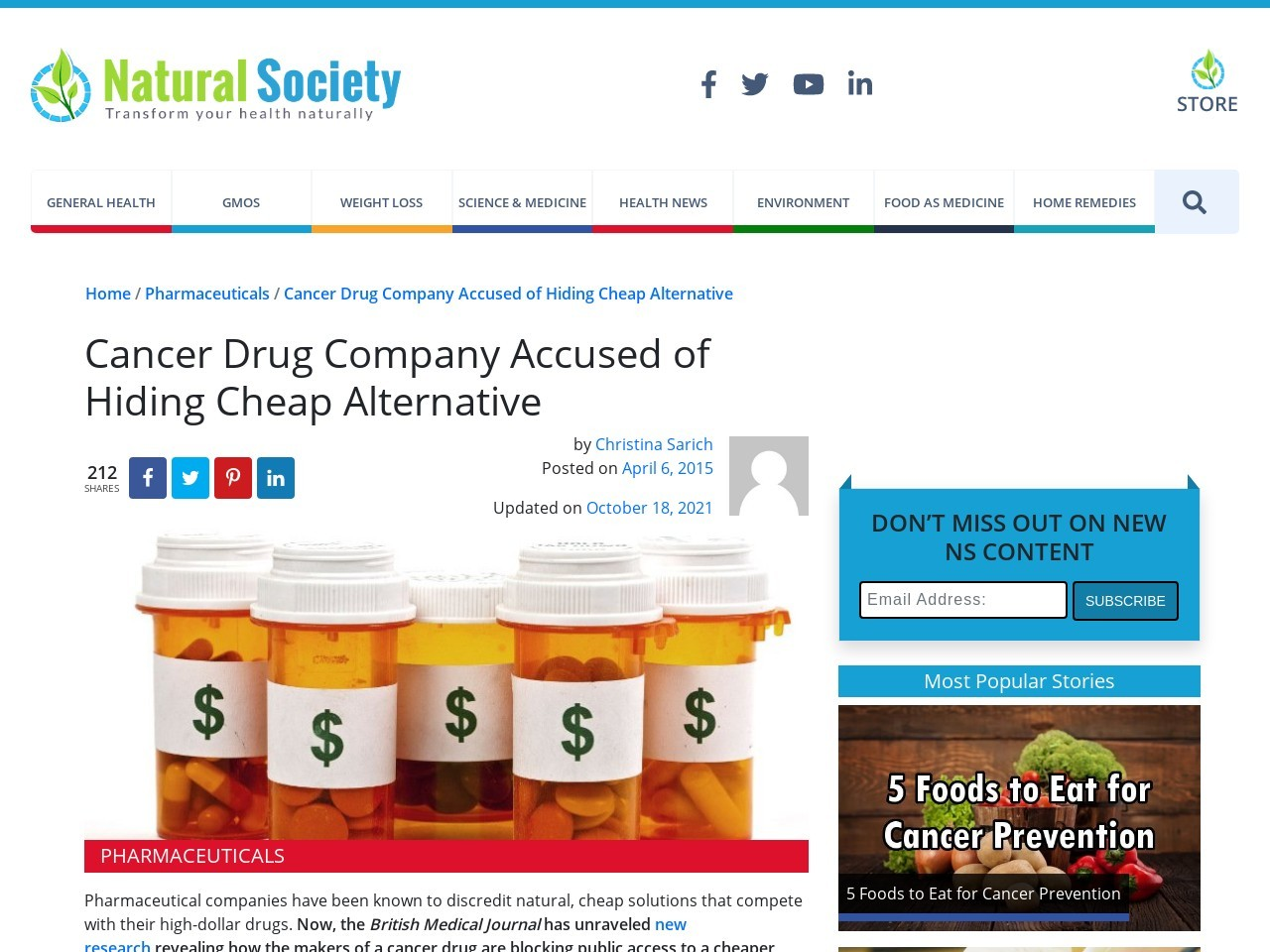 Cancer Drug Company Accused of Hiding Cheap Alternative