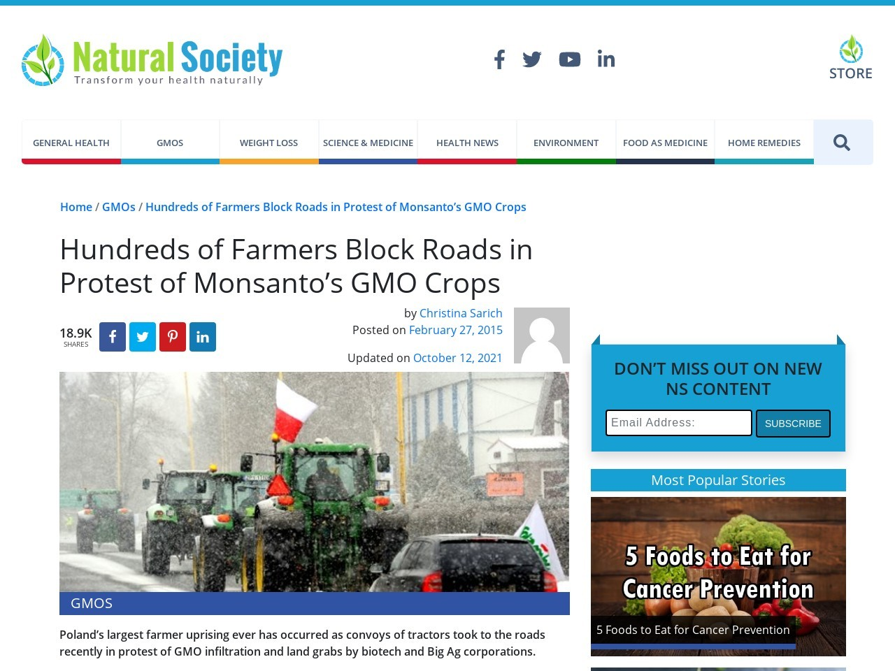 Hundreds of Farmers Block Roads in Protest of Monsanto's GMO Crops