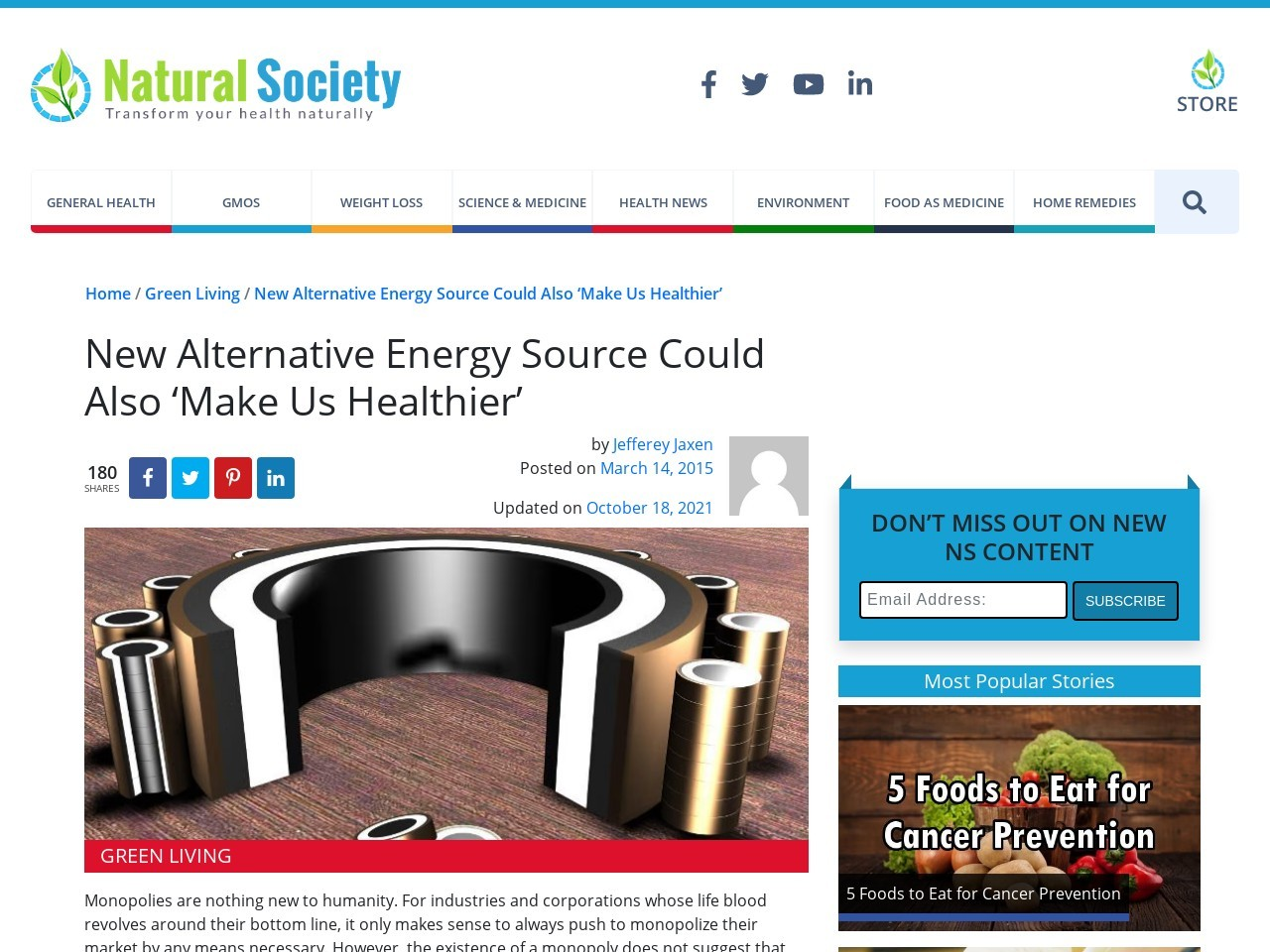 New Alternative Energy Source Could Also 'Make Us Healthier'