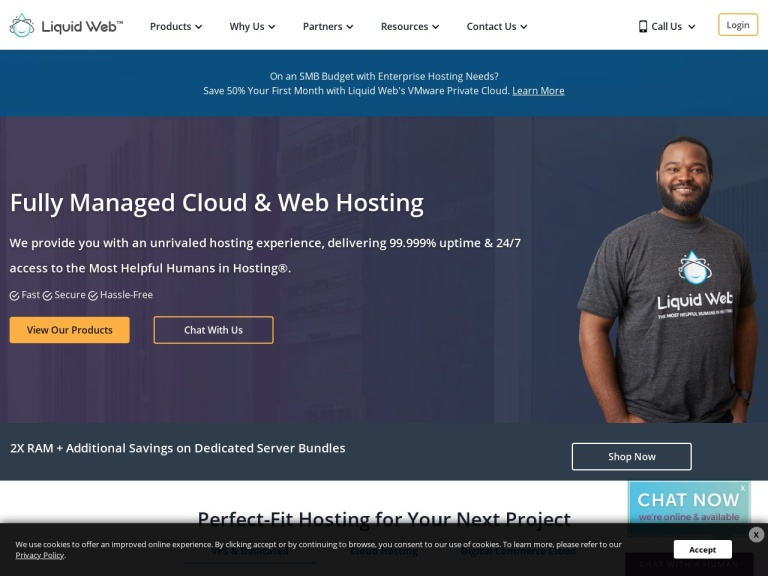 Liquid Web Hosting screenshot