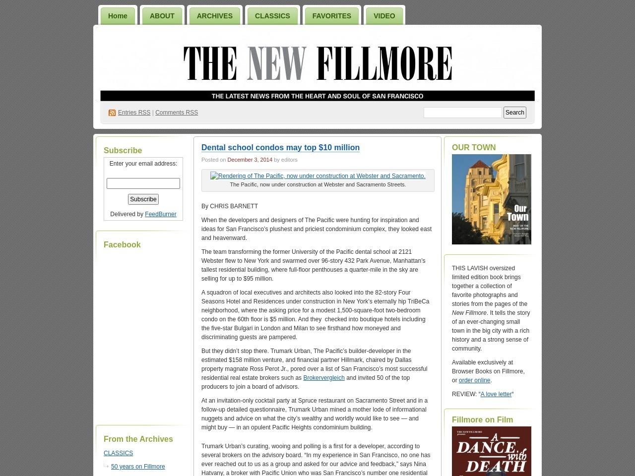Dental school condos may top $10 million | The New Fillmore