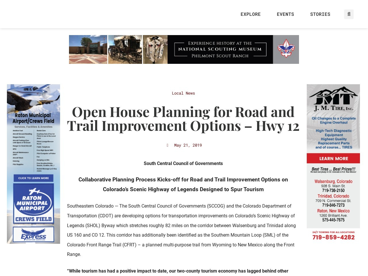 Open House Planning for Road and Trail Improvement Options – Hwy 12