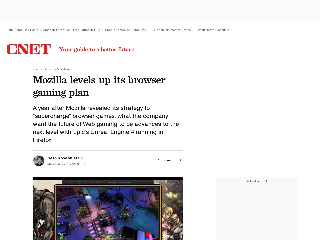 Mozilla levels up its browser gaming plan
