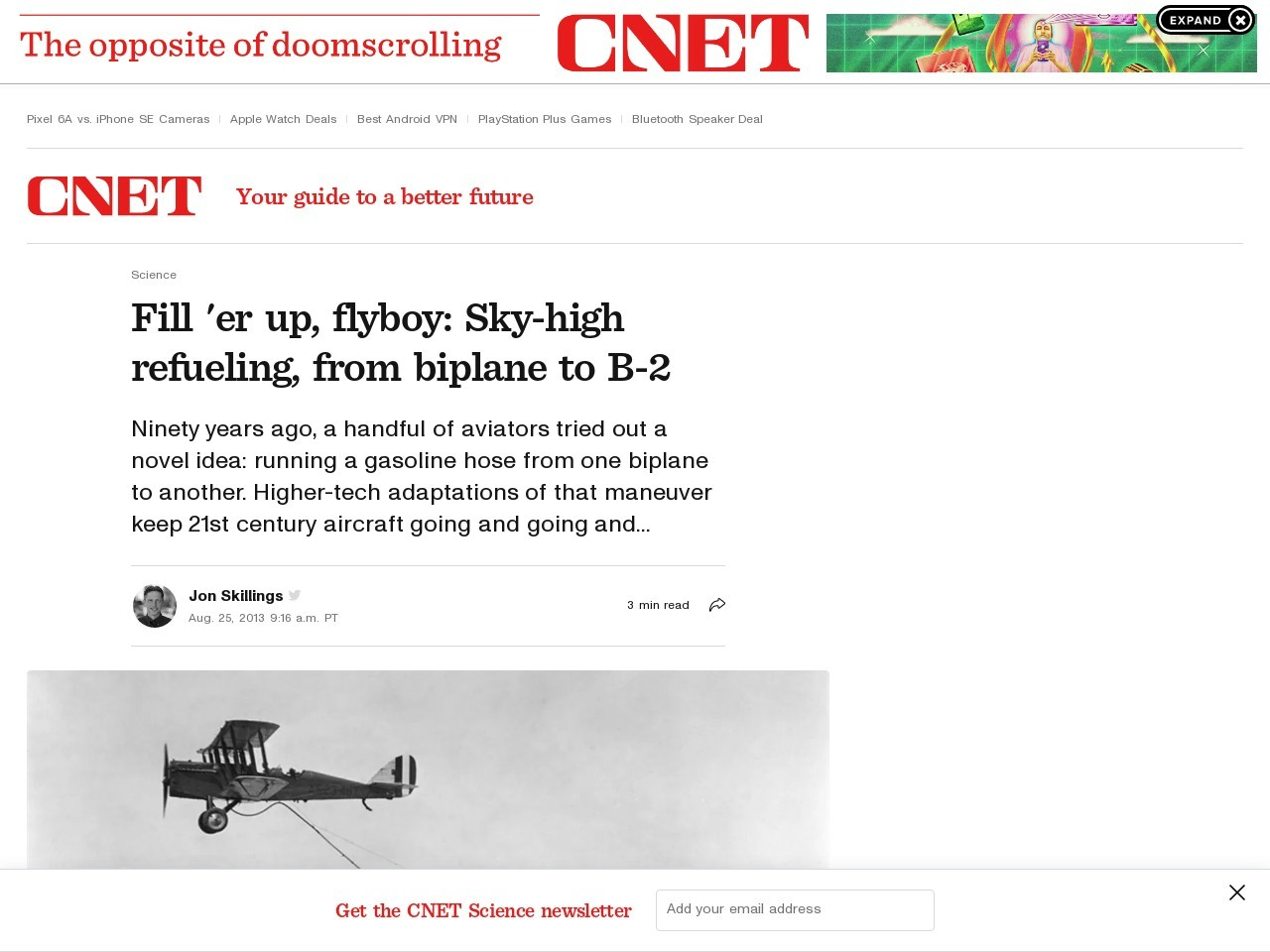 Fill 'er up, flyboy: Sky-high refueling, from biplane to B-2