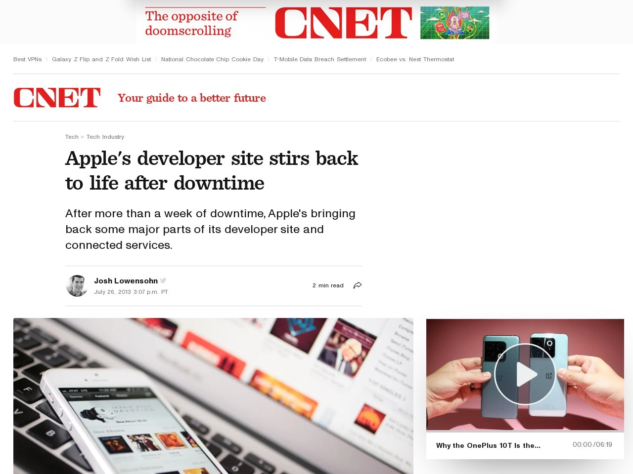 Apple's developer site stirs back to life after downtime | Apple …
