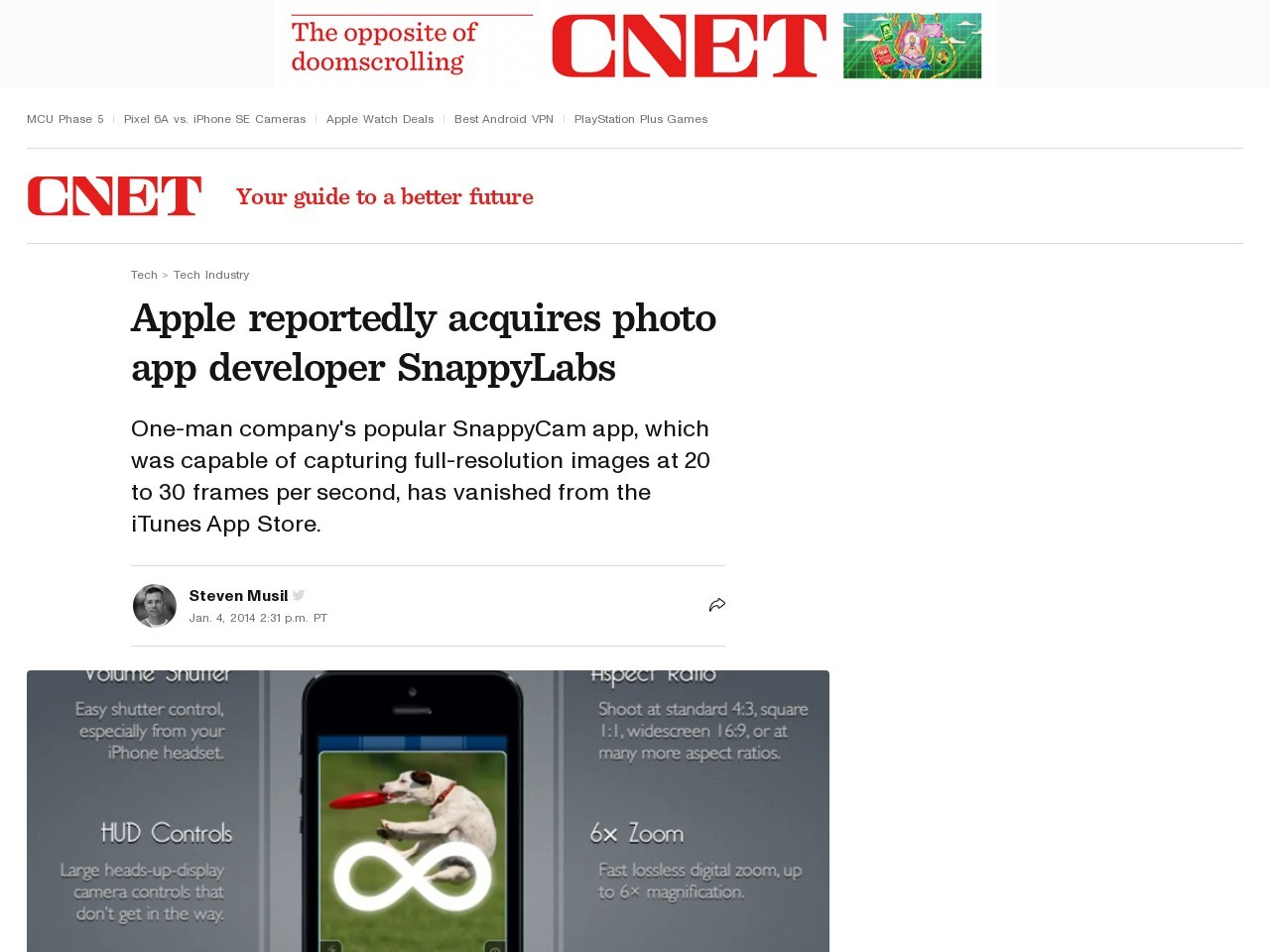 Apple reportedly acquires photo app developer SnappyLabs | Apple …