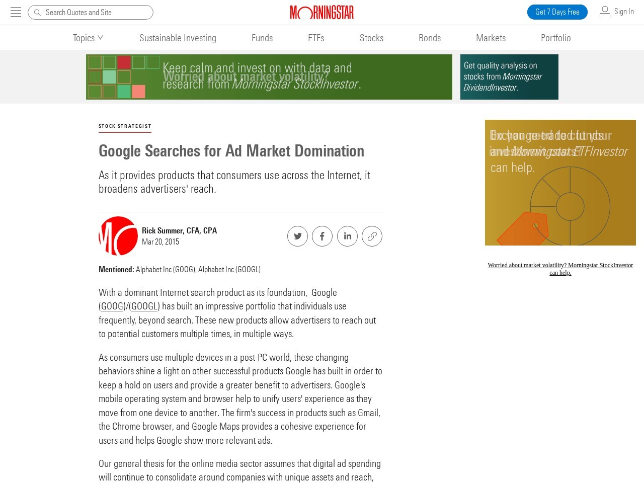 Google Searches for Ad Market Domination
