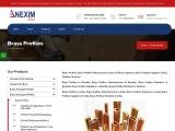 Brass Profiles Manufacturers Exporters | Nexim Alloys