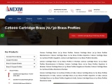 C26000 Cartridge Brass 70/30 Brass Profiles | Nexim Alloys